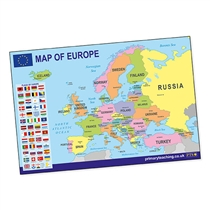 Map of Europe Poster (A2 - 620mm x 420mm)