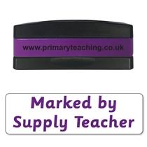 Marked by Supply Teacher Stakz Stamper - Purple Ink (44mm x 13mm)