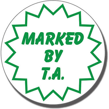 Marked by T.A. Stamper - Green Ink (25mm)