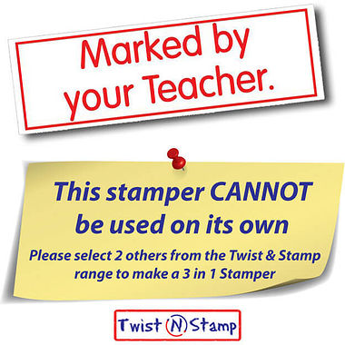 Marked By Your Teacher Twist & Stamp Stamper Brick - Red Ink