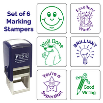Marking Stampers Positive Feedback Mixed Set of 6 - Pre-inked