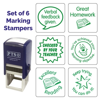 Marking Stampers - Set of 6 - Green (25mm)
