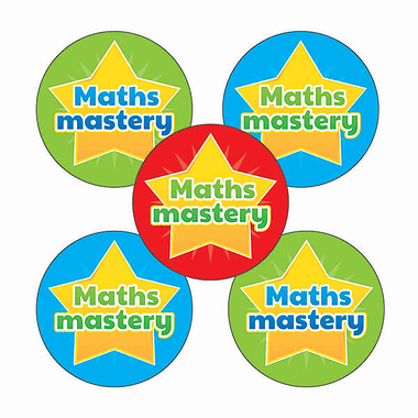 'Maths Mastery' Stickers (30 Stickers - 25mm)