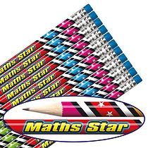 Maths Star Pencils   (12 Pencils) Brainwaves