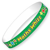 Maths Wizz Wristbands (40 Wristbands - 220mm x 13mm) Brainwaves