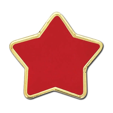 Enamel Star Badge - Red