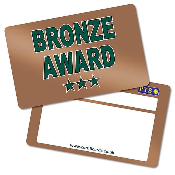 'Bronze Award' CertifiCARDS