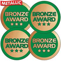 Metallic Bronze Award Stickers (35 Stickers - 37mm)