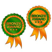 Metallic Bronze Rosettes (25 Stickers - 54mm x 37mm)