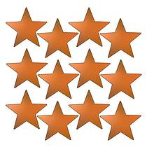 Metallic Bronze Star Stickers (140 Stickers - 20mm)