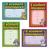 Metallic Excellent Attendance Certificates (20 Certificates - A5) Brainwaves