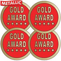 Metallic Gold Award Stickers (35 Stickers - 37mm)