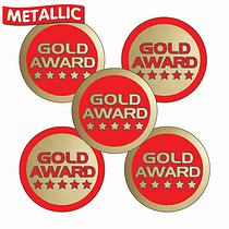 Metallic Gold Award Stickers (70 Stickers - 25mm)