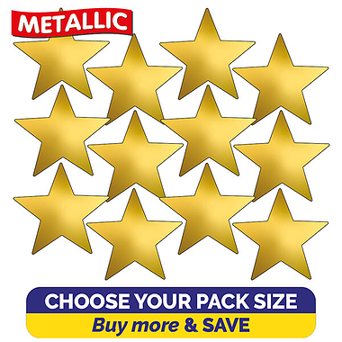 Metallic Gold Star Stickers (18mm)
