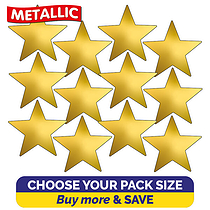 Metallic Gold Star Stickers (20mm)