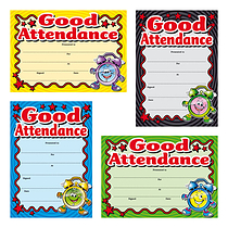 Metallic Good Attendance Certificates (20 Certificates - A5) Brainwaves