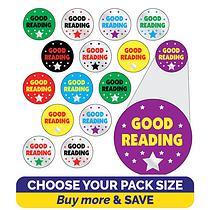 Metallic Good Reading Stickers (10mm)