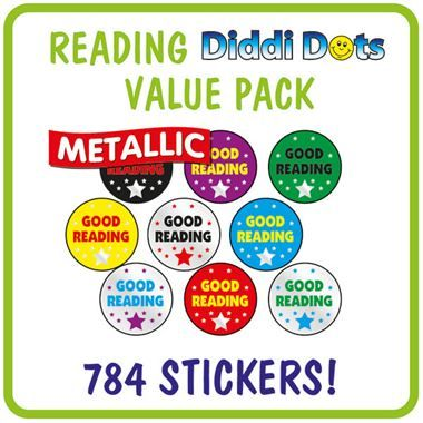 Metallic Good Reading Stickers Value Pack (784 Stickers - 10mm)