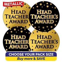 Metallic Head Teacher's Award Stickers (37mm)