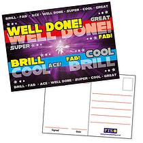 Metallic Postcards - Positive Words (20 Postcards - A6)