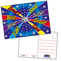 Metallic Postcards - Positive Words (20 Postcards - A6)
