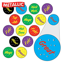Metallic Reward Stickers (196 Stickers - 10mm)