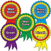 Metallic Rosette Stickers (25 Stickers - 54mm x 37mm)