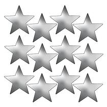 Metallic Silver Star Stickers (140 Stickers - 20mm)