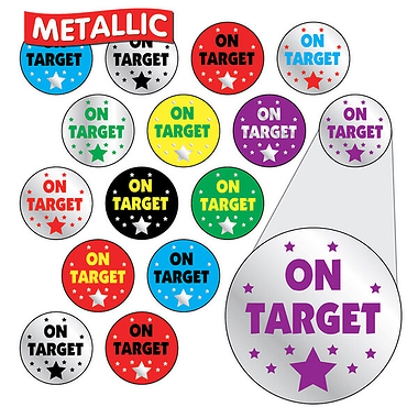 Metallic Stickers - On Target (196 Stickers - 10mm)