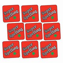Metallic Super Spelling Stickers (140 Stickers - 16mm)