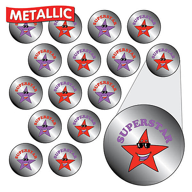 Metallic 'Superstar' Stickers (196 Stickers - 10mm)