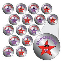 Metallic 'Superstar' Stickers (196 Stickers - 10mm)