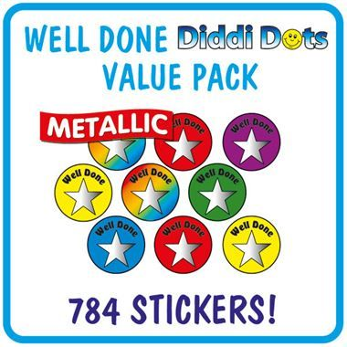 Metallic Well Done Stickers Value Pack (784 Stickers - 10mm)