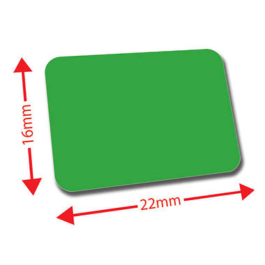 Mini Library Labels - Dark Green (120 Labels - 22mm x 16mm)