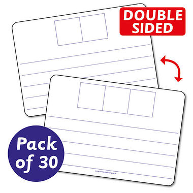 Mini Whiteboards - 2 & 3 Phoneme whiteboards (A4 - Pack of 30)