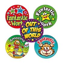 Mixed Reward Stickers (70 Stickers - 25mm) Brainwaves