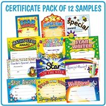 Mixed Teacher Certificates - SAMPLE Pack (A5 - 12 Certificates)