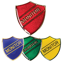 Monitor Enamel Badge (30mm x 26.4mm)