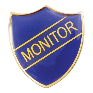 Monitor Enamel Badge - Blue (30mm x 26.4mm)