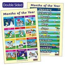 Months of the Year Double Sided Poster (A2 - 620mm x 420mm)