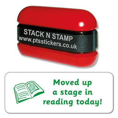 Moved up a stage in reading today Stack & Stamp - Green Ink (38mm x 15mm)
