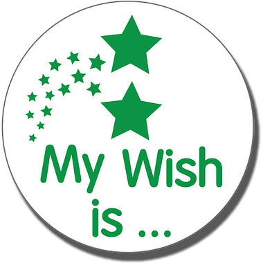My Wish is… Stamper - Green Ink (25mm)