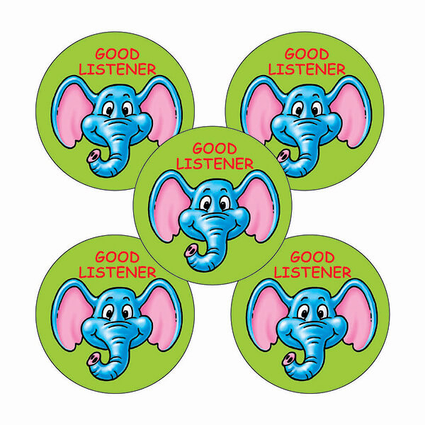 Good Listener 25mm Stickers Sheet of 70
