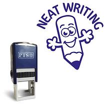 Neat Writing Stamper - Blue Ink (20mm) Brainwaves