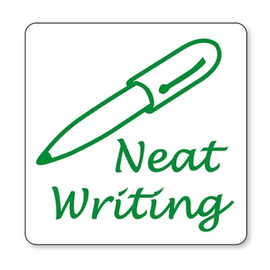 Neat Writing Stamper - Green Ink (25mm)