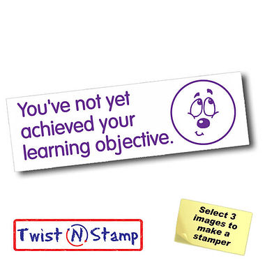 Not Achieved Learning Objective Unsure Twist & Stamp Stamper Brick (38mm x 15mm)