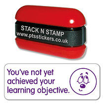 Not Yet Achieved Your Learning Objective Stack N Stamp - Purple Ink (38mm x 15mm)