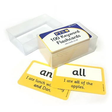 100 High Frequency Words on Laminated Cards (86mm x 54mm)