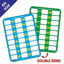 Number Bond Practice Dry Wipe Card (A6)