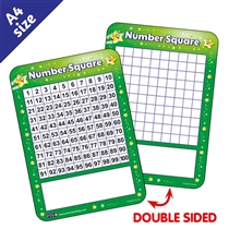 Number Square Whiteboard (A4)